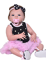 cheap -Reborn Baby Dolls Clothes Reborn Doll Accesories Cotton Fabric for 22-24 Inch Reborn Doll Not Include Reborn Doll Princess Skirt Soft Pure Handmade Girls' 3 pcs