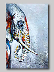 cheap -Oil Painting Hand Painted Abstract Abstract Landscape Comtemporary Modern Stretched Canvas Animals Elephant With Stretched Frame