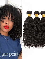 cheap -3 Bundles Hair Weaves Brazilian Hair Curly Human Hair Extensions Remy Human Hair 100% Remy Hair Weave Bundles 300 g Natural Color Hair Weaves / Hair Bulk Human Hair Extensions 8-28 inch Natural Color