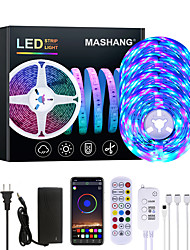 cheap -20M LED Strip Lights RGB LED Light Strip Music Sync 1200LEDs  LED Strip 2835 SMD Color Changing LED Strip Light Bluetooth Controller and 24 Key Remote LED Lights for Bedroom Home Party
