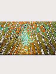 cheap -Mintura Hand Painted Knife Trees Landscape Oil Paintings on Canvas Modern Abstract Wall Art Picture Posters For Home Decoration Ready To Hang