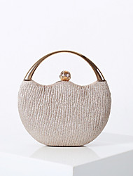 cheap -Women's Bags Polyester Evening Bag Solid Color Wedding Party Event / Party Evening Bag Wedding Bags 2021 Black Champagne Silver