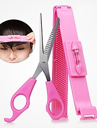 cheap -DIY Women Hair Trimmer Fringe Cut Tool Clipper Comb Guide For Cute Bang Level Ruler Accessories