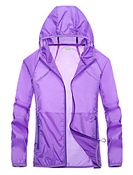 cheap -Women's Hiking Jacket Hiking Windbreaker Outdoor Windproof Sunscreen Breathable Quick Dry Jacket Top Camping / Hiking Fishing Climbing White / Dark Purple / Pink / Light Grey / Rose Red / Summer