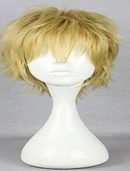 cheap -Ensemble Stars Cosplay Cosplay Wigs Men's Layered Haircut 12 inch Heat Resistant Fiber Curly Blonde Teen Adults' Anime Wig