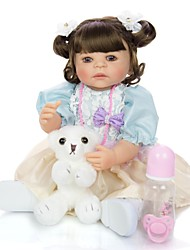 cheap -KEIUMI 22 inch Reborn Doll Baby & Toddler Toy Reborn Toddler Doll Baby Girl Gift Cute Washable Lovely Parent-Child Interaction Full Body Silicone KUM23FS01-WW154 with Clothes and Accessories for
