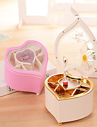 cheap -Music Box Romantic Heart Engraved Unique Random Color Plastic Young Girl Adults Kids Graduation Gifts Toy Gift