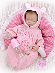 cheap -KEIUMI 16 inch Reborn Doll Baby & Toddler Toy Reborn Toddler Doll Baby Girl Gift Cute Lovely Parent-Child Interaction Tipped and Sealed Nails 3/4 Silicone Limbs and Cotton Filled Body 17D24-C342-T31