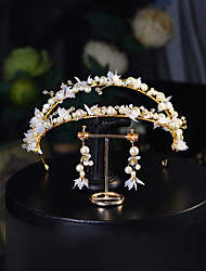 cheap -Sweet Crystal / Imitation Pearl / Alloy Headbands / Suits with Faux Pearl / Crystal / Rhinestone / Floral 1 Piece Wedding / Daily Wear Headpiece