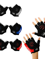 cheap -Bike Gloves / Cycling Gloves Mountain Bike Gloves Mountain Bike MTB Road Bike Cycling Anti-Slip Breathable Padded Wearproof Fingerless Gloves Half Finger Sports Gloves Terry Cloth Lycra Yellow Red