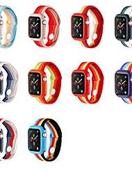 billige -silica Gel Urrem Strap for Apple Watch Series 5/4/3/2/1 22cm / 8,66 tommer 2.2cm / 0.9 Tommer
