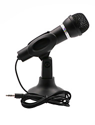 cheap -Condenser Microphone 3.5mm Plug Home Stereo MIC Desktop Stand for PC YouTube Video Skype Chatting Gaming Podcast Recording