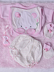 cheap -Reborn Baby Dolls Clothes Reborn Doll Accesories Cotton Fabric for 22-24 Inch Reborn Doll Not Include Reborn Doll Rabbit Soft Pure Handmade Girls' 5 pcs