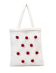 cheap -Women's Zipper PU Leather Top Handle Bag Handbags White / Black / Khaki