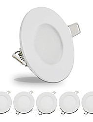 cheap -6pcs 4pcs Led Downlights 3W Led Ceiling Light 110V Recessed Down Light Round Led Panel Light 220V LED Spot Light Indoor Lighting