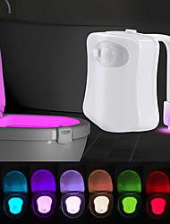 cheap -8 Colors Waterproof LED Toilet Sensor Light Toilet Hanging Human Body Induction Light WC Toilet Light Smart Night Light