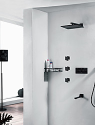 cheap -Shower Faucet Set - Handshower Included Fixed Mount Contemporary Painted Finishes Brass Valve Bath Shower Mixer Taps