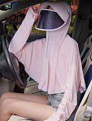 Недорогие -солнцезащитная одежда волокна дышащий ультра-тонкий ультрафиолетовый лето на открытом воздухе езда электрический автомобиль солнцезащитная одежда вискоза солнцезащитный крем шаль тонкое пальто