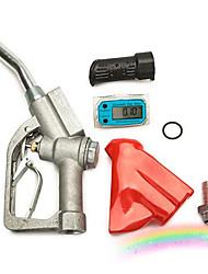 cheap -Turbine flow meter sensor flowmeter flow indicator counter fuel gauge flow device gasoline diesel petrol oil water Refueling gun