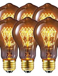 cheap -6pcs / 4pcs 40 W E26 / E27 A60(A19) Warm White 2200-2800 k Retro / Dimmable / Decorative Incandescent Vintage Edison Light Bulb 220-240 V