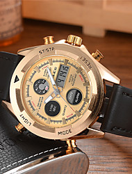 cheap -DIOUCE Men's Sport Watch Quartz Modern Style Sporty Casual Calendar / date / day Analog - Digital Blue Gold / Leather / Chronograph / Noctilucent