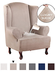 cheap -Chair Cover Solid Colored Flocking Polyester Slipcovers