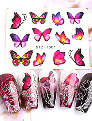 cheap -30 Sheets Nail Stickers Nail Art Water Transfer Stickers Spring and Summer Butterfly Color Printing Female Trend for DIY Nail Art Decorations
