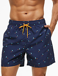 cheap -Men's Swim Shorts Swim Trunks Board Shorts Bottoms Breathable Quick Dry Drawstring - Swimming Diving Surfing Floral Print Spring Summer