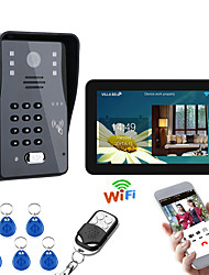 cheap -9 Inch Wired / Wireless Wifi RFID Password Video Door Phone Doorbell Intercom Entry System With IR-CUT 1000TVL Wired Camera Night VisionSupport Remote APP UnlockingRecordingSnapshot
