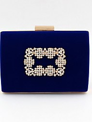 cheap -Women's Crystals Velvet Evening Bag 2020 Black / Blue