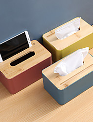 cheap -Tissue Box Wooden Cover Paper Toilet  Box Tissue Multifunction  Wooden Tissue Box Home Bathroom Car Organizer Decoration Tools