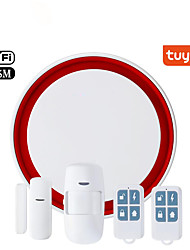 cheap -Security home Tuya smart wireless WIFI Alarm system 433mhz GSM alarm PIR motion detector door contact open sensor flash siren