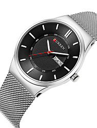 cheap -CURREN Men's Steel Band Watches Analog Quartz Formal Style Modern Style Luxury Water Resistant / Waterproof Calendar / date / day Shock Resistant / One Year / Stainless Steel / Japanese