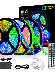 cheap -15m 3*5m LED Light Strips RGB Tiktok Lights 5050 SMD 450 Leds 10mm Strip Fexible Light Led Tape not-waterproof DC 12V 450leds with 44key IR Remote Controller Kit