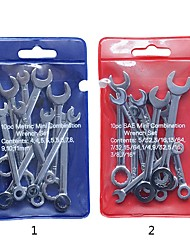 cheap -Mini Spanner Wrenches Set Key Ring Spanner Explosion-proof Pocket British/Metric Type Wrenches 10pcs/set