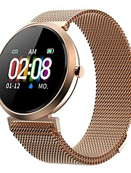 cheap -Milanese V06C smart watch round heart rate blood pressure cycle reminder IP68 waterproof fashion women bluetooth