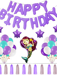 cheap -Party Balloons 16+10 pcs Mermaid Party Supplies Latex Balloons Tassels Boys and Girls Party Birthday Decoration 10-16inch for Party Favors Supplies or Home Decoration