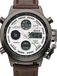 cheap -DIOUCE Men's Sport Watch Digital Sporty Outdoor Water Resistant / Waterproof Analog - Digital Black / Silver White Black / Stainless Steel / Genuine Leather / Japanese / Calendar / date / day
