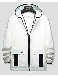 cheap -Men's Boys' Hiking Jacket Hiking Windbreaker Outdoor Windproof Warm Soft Comfortable Jacket Hoodie Winter Jacket Nylon White / Blue / Grey