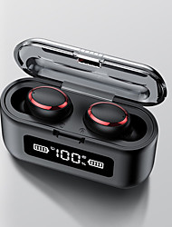 cheap -LITBest F9 TWS Wireless Earbuds Electroplating Ring Fast Auto Pairing Hifi Stereo Sound Bluetooth5.0 Smart Touch Control Waterproof Comfortable Fit Headset Support For Charging You Mobile Phone