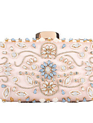 cheap -Women's Bags Polyester Evening Bag Crystals Sequin Wedding Bags Party Event / Party Black Blushing Pink Gold Silver