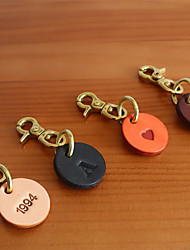 cheap -Keychain Handmade Alphabet Shape Heart Portable Casual Basic Ring Jewelry Black / Blushing Pink / Orange For Gift Daily Casual / Daily
