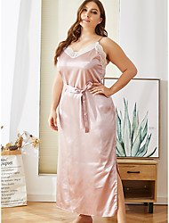 cheap -Women's Deep V Chemises & Gowns Pajamas Solid Colored