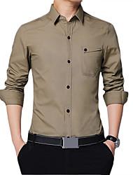 זול -בגדי ריקוד גברים אחיד להסוות חולצה עסקים בסיסי יומי עבודה שחור / ירוק צבא / חאקי / כחול נייבי
