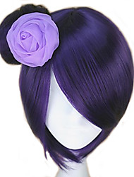 cheap -Cosplay Costume Wig Synthetic Wig Akatsuki Konan Purple Konan Naruto Straight Bun With Bangs Wig Short Purple Synthetic Hair 12 inch Women's Women Synthetic Sexy Lady Mixed Color hairjoy