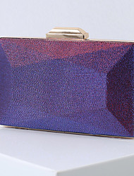 cheap -Women's Chain Polyester Evening Bag Color Block Purple / Green / Silver