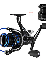 cheap -Fishing Reel Spinning Reel 5.51 Gear Ratio+10 Ball Bearings Hand Orientation Exchangable Carp Fishing