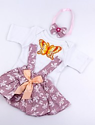 cheap -Reborn Baby Dolls Clothes Reborn Doll Accesories Cotton Fabric for 17-18 Inch Reborn Doll Not Include Reborn Doll Leaf Soft Pure Handmade Girls' 3 pcs