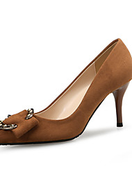cheap -Women's Heels Spring Fall Pumps Pointed Toe Office & Career Home Suede Black / Brown