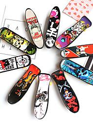 cheap -10 pcs Finger skateboards Mini fingerboards Finger Toys Plastic Cartoon Pattern Kid's Party Favors  for Kid's Gifts